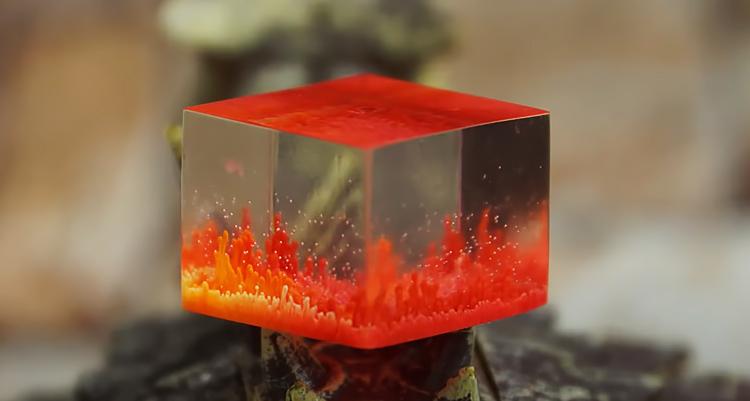Куб в технике Petri Art